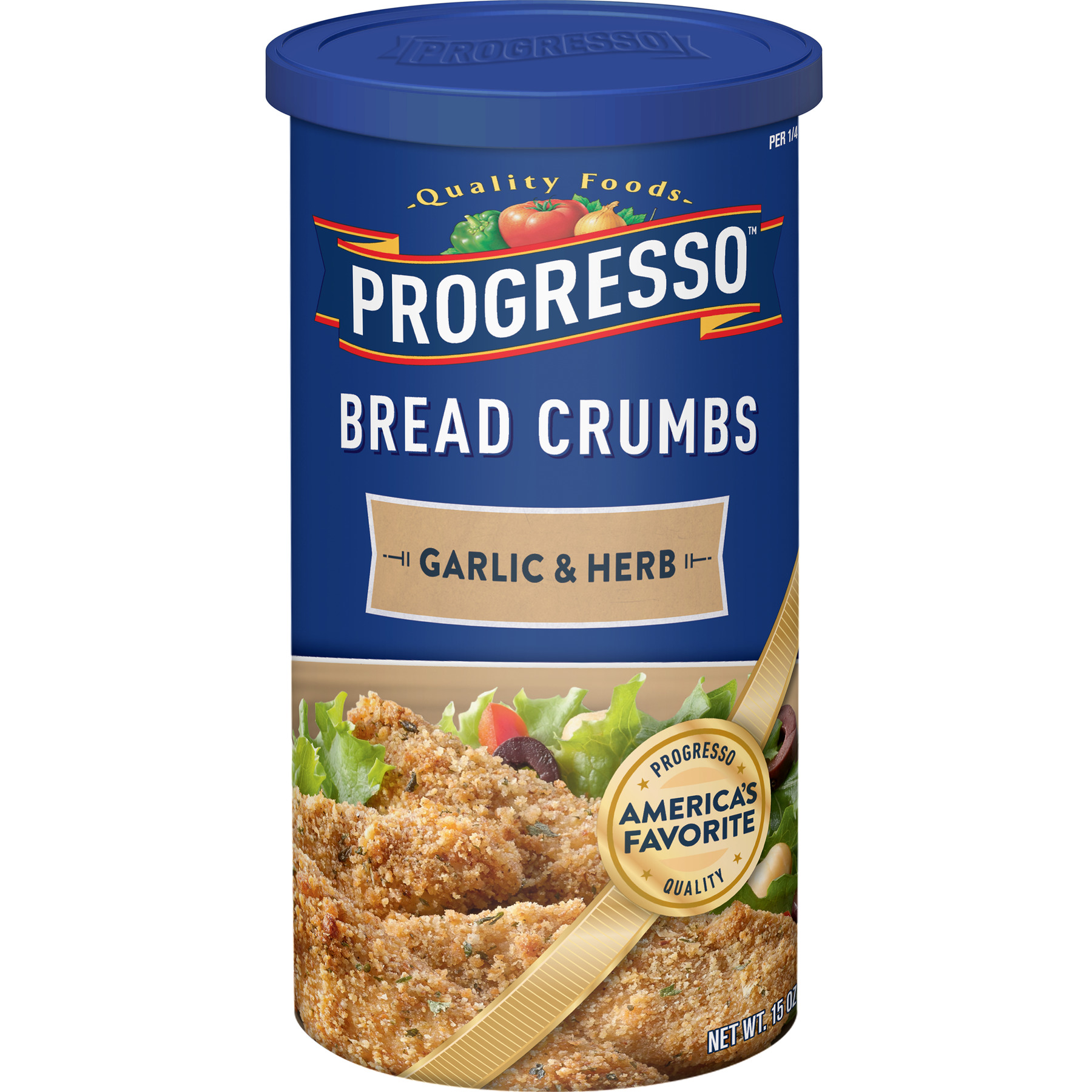 Progresso Garlic and Herb Bread Crumbs, 15 oz Container