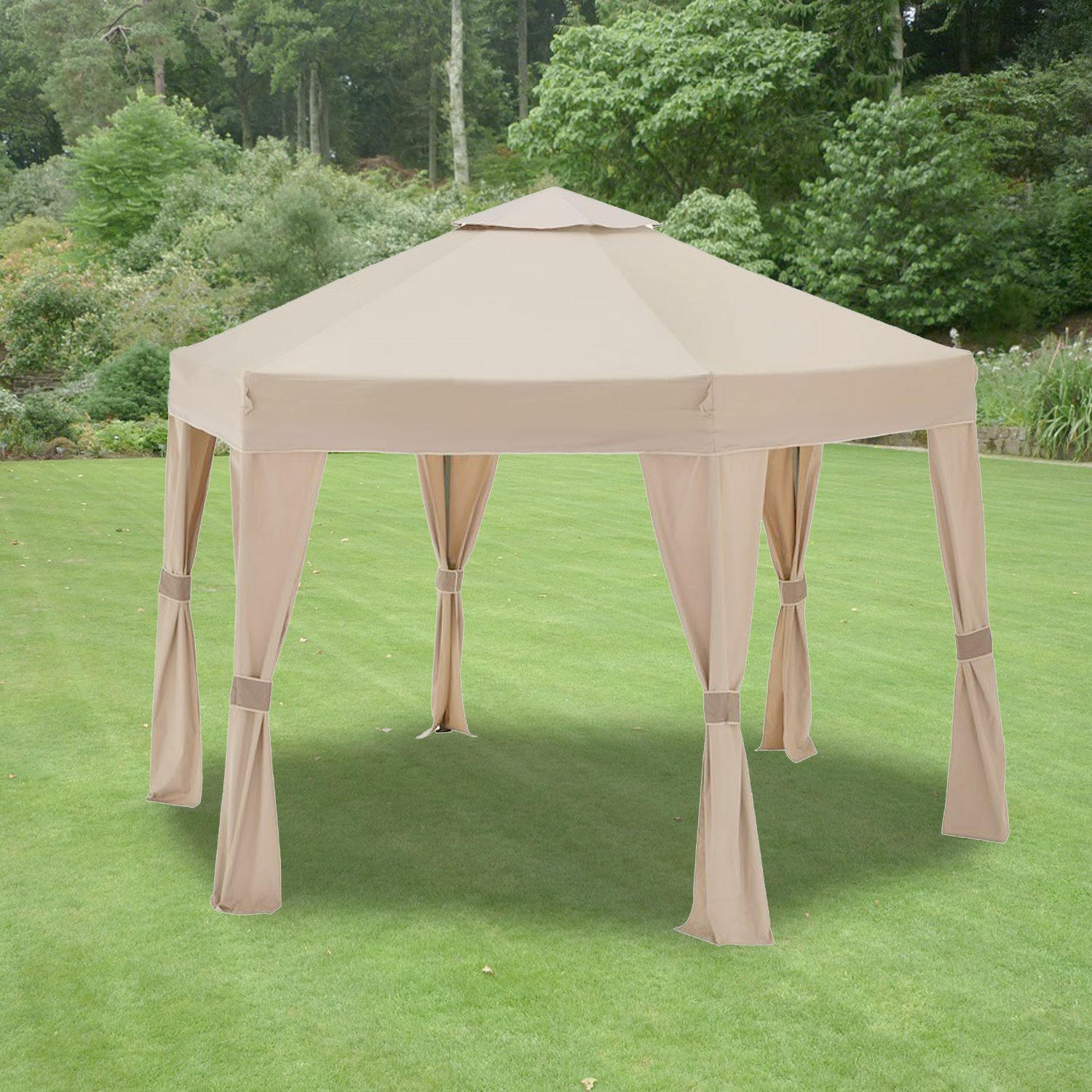 Garden Winds Replacement Canopy for the Tacoma Hexagon Gazebo, Riplock 350
