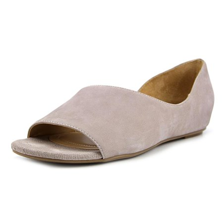Naturalizer Lucie Women W Open Toe Leather Gray Wedge Sandal