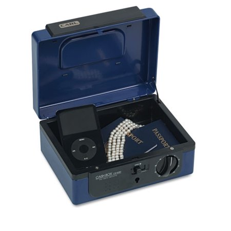 - Dual Lock Personal Security Box, Combination and Key Locks, Blue