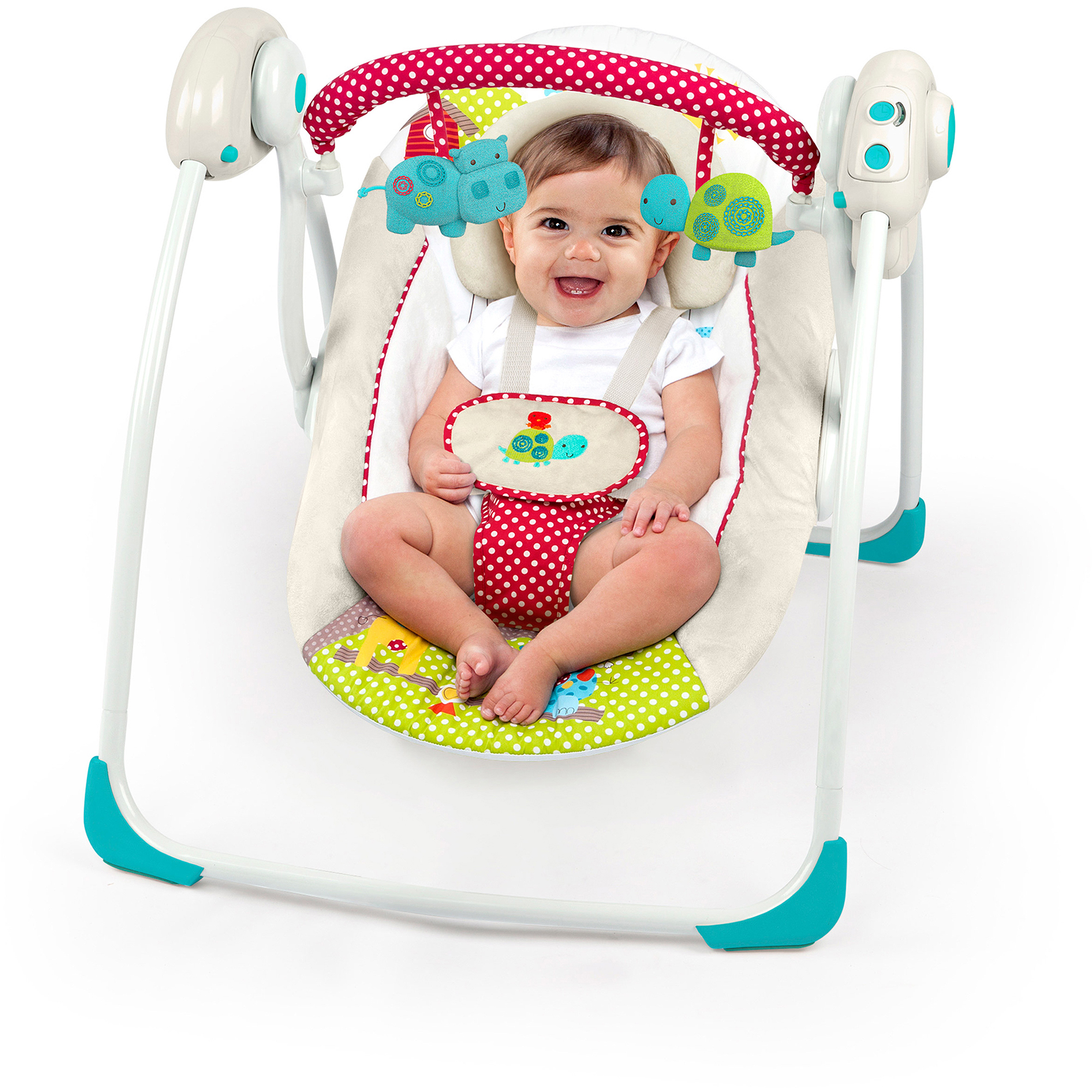Bright Starts Polka Dot Parade Portable Swing