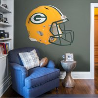 Fathead Green Bay Packers: Helmet - Huge Officially Licensed NFL Removable Wall Decal