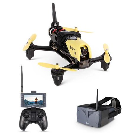 Hubsan X4 Storm Racing 5.8GHz FPV Drone Pack with 720P HD Camera, HS001 LCD Monitor, HV002 Goggles, Transmitter Included