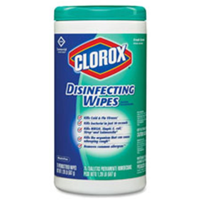 Clorox CLO15948CT Large Canister Disinfecting Wipes, Lemon - 6 Per Carton
