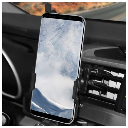 Samsung Galaxy S8 Car Vehicle Truck Air Vent Mount Holder with Stablizer Arm and Quick Release - Easy Install, Rotatable, Transferrable, Slim, Galaxy S8