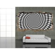 Startonight 3D Mural Wall Art Photo Decor Hypnotic Black and White Spiral Amazing Dual View Wall Mural Wallpaper Bedroom Abstract Large 47.24 ?? By 86.61 ??