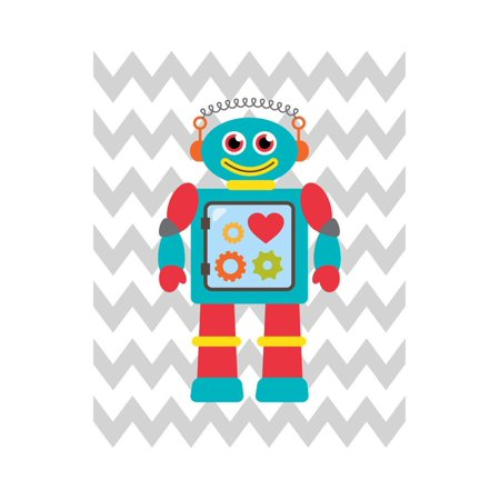 Robot Chevron 3 Print Wall Art By Tamara Robinson ()