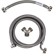 Certified Appliance Accessories STMKIT2 Braided Stainless Steel Steam Dryer Installation Kit with Elbow, 5ft