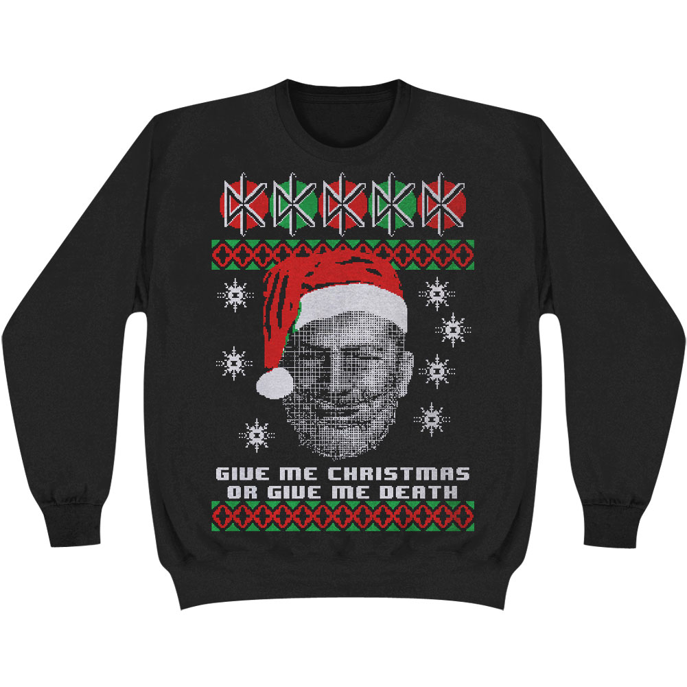 Dead Kennedys Men's  Give Me Xmas Or Give Me Death Ugly Sweatshirt Black