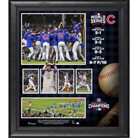 """Chicago Cubs Fanatics Authentic 2016 MLB World Series Champions Framed 15"""" x 17"""" Collage - No Size"""