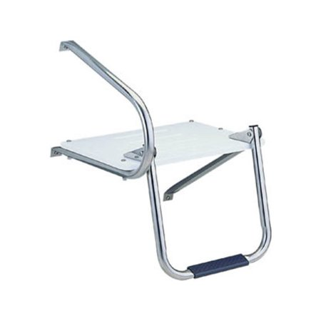 Garelick EEz-In Swim Platform with Wrap-Around Rail and Underside Support Rail for Boats with Outboard (Swimming Platform)