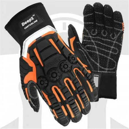 Cestus 3035 XL Pro Series Deep Ii Impact One Pair Glove, Black - Extra Large
