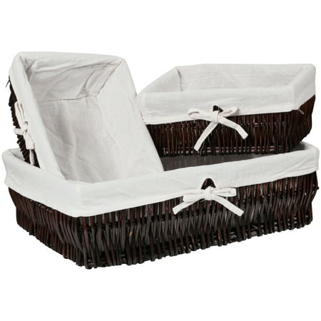 Baum Willow Baskets Set 3 pc Box