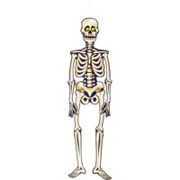Jointed Skeleton Halloween Hanging Decoration, 35 in, 1ct