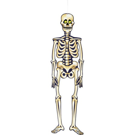 Jointed Skeleton Halloween Hanging Decoration, 35 in, 1ct - Parrot Skeleton