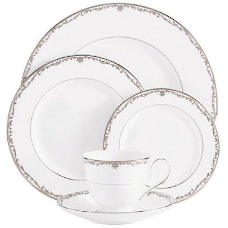 Coronet Platinum Bone China Saucer, Crafted of Lenox fine bone china By Lenox ()