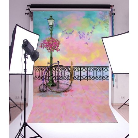 HelloDecor Polyester 5x7ft Photography Backdrop Valentine
