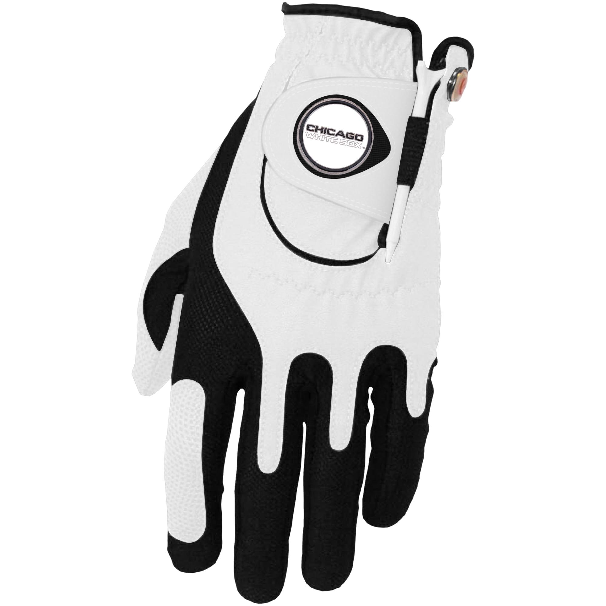 Chicago White Sox Left Hand Golf Glove & Ball Marker Set - White - OSFM