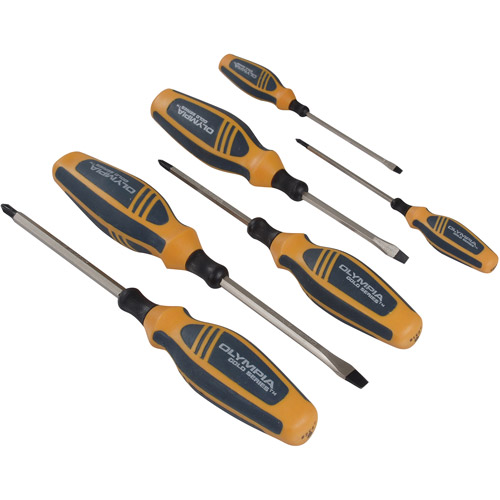 Olympia Tools 6pc Gold Series Screwdriver Set, 22-905 by Olympia Tools