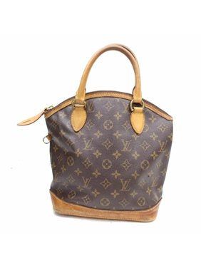 f4764585be86 Product Image Lockit Monogram Pm 869041 Brown Coated Canvas Satchel