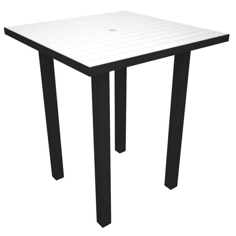 POLYWOOD® Euro Recycled Plastic 36 in. Square Bar Height Table