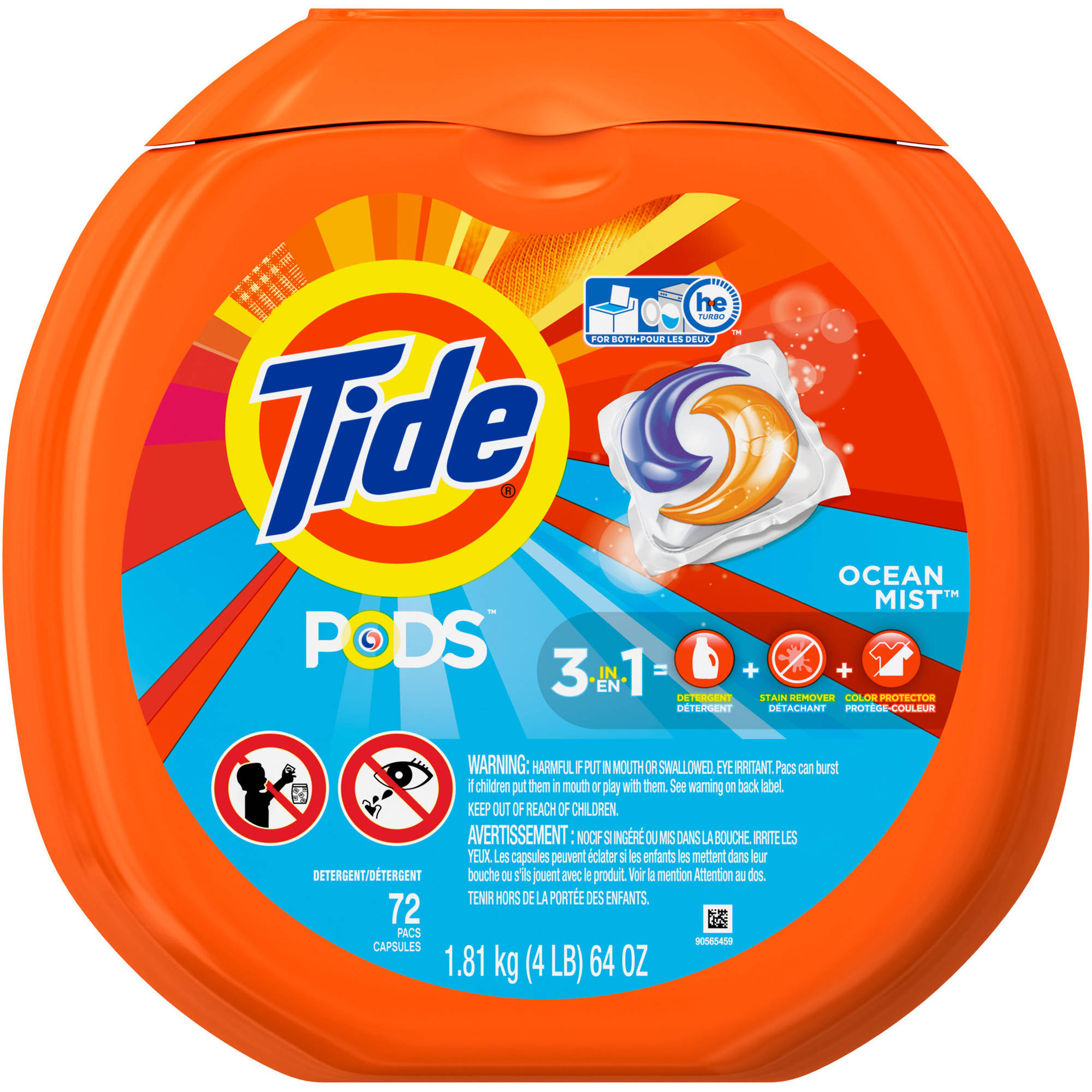 Tide PODS Laundry Detergent, 72 Count/Loads, (Choose Your Scent)