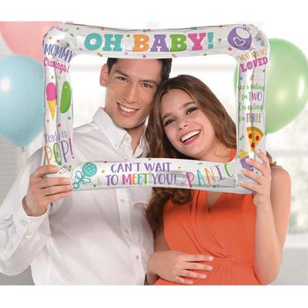 Baby Shower 'Ready to Pop' Inflatable Frame (1ct)](Baby Shower Signature Frame)