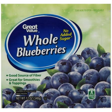 Great Value Frozen Blueberries 12 Oz Walmart Com