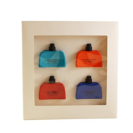 Costume National Pop Collection 4 Pc. Mini Gift Set ( 4 X 0.17 Oz Of Pop Teal + Pop Orange + Pop Red + Pop Blue All Eau De Parum Spray ) for Women by Costume National](Orange Prison Jumpsuit Womens)