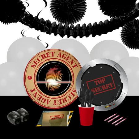 Top Secret Spy 16 Guest Party Pack + Deco Kit](Halloween Party Deko Set)