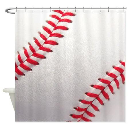 CafePress - Baseball Sports Theme - Unique Cloth Shower Curtain](Baseball Theme)