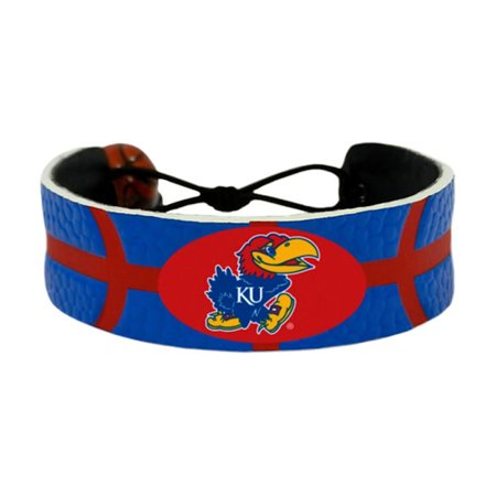 1988 Kansas Jayhawks Basketball - NCAA Kansas Jayhawks Sports Team Logo Gamewear Leather Basketball Bracelet