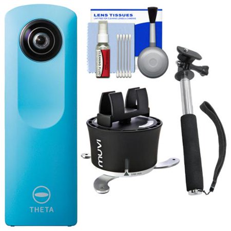 ricoh theta m15 360 degree spherical digital camera blue with panorama time lapse gadget. Black Bedroom Furniture Sets. Home Design Ideas