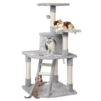 Deals on SmileMart 48-in Cat Tree Condo Scratching Post Tower