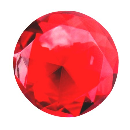 Big 60mm Deep Ruby Red 60 mm Cut Glass Crystal Giant Diamond Jewel Paperweight