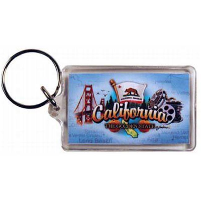 1266464 California Lucite Keychain- Elements Case of 96
