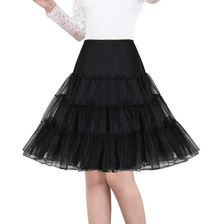 Women's 50s Vintage Rockabilly Petticoat Skirts 26