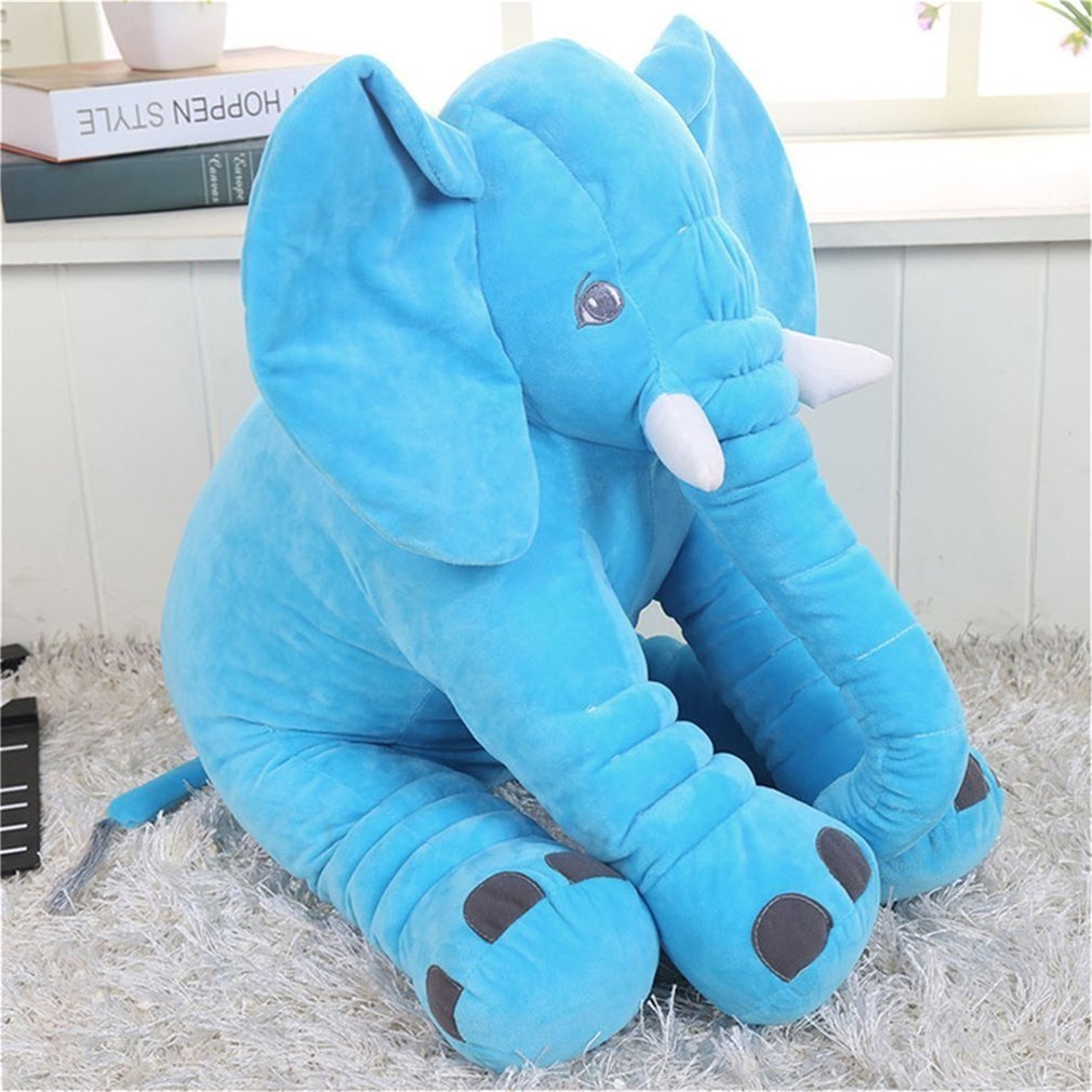 Stuffed Elephant Plush Toy, Kids Animal Plush Doll Toy, Baby Pillow, Gray