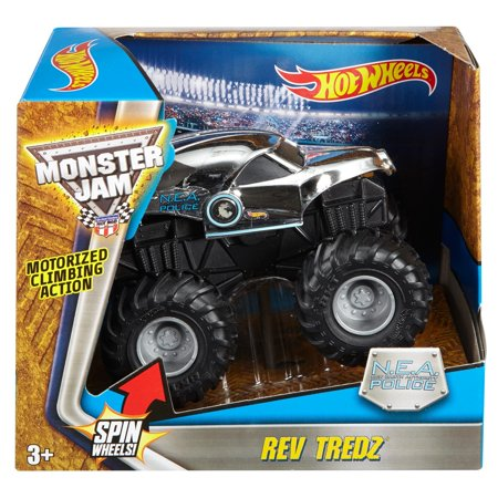 Hot Wheels Monster Jam Rev Tredz N.E.A. Police Vehicle