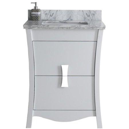 Royal Purple Bath Kitchen Cataldo Floor Mount 24 Single Bathroom Vanity Set With Hole Faucet