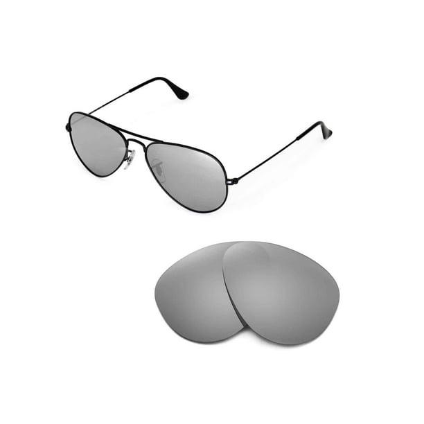Walleva - Walleva Titanium Polarized Replacement Lenses for Ray-Ban Aviator  Large Metal RB3025 55mm Sunglasses - Walmart.com - Walmart.com