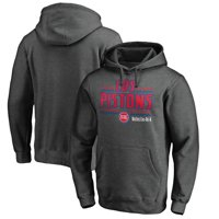 Detroit Pistons Fanatics Branded Noches Ene-Be-A Pullover Hoodie - Heather Gray