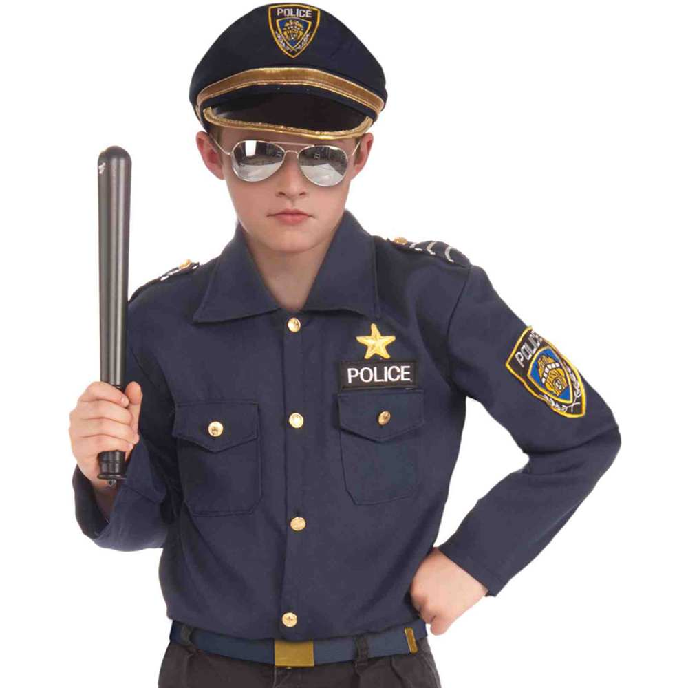 Instant Police Kids Costume Kit