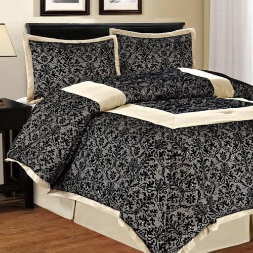 Popular Bath Filigree 4 Piece Comforter Set