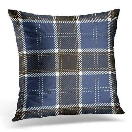 Cmfun Black Abstract Blue Scottish Tartan Plaid Pattern White