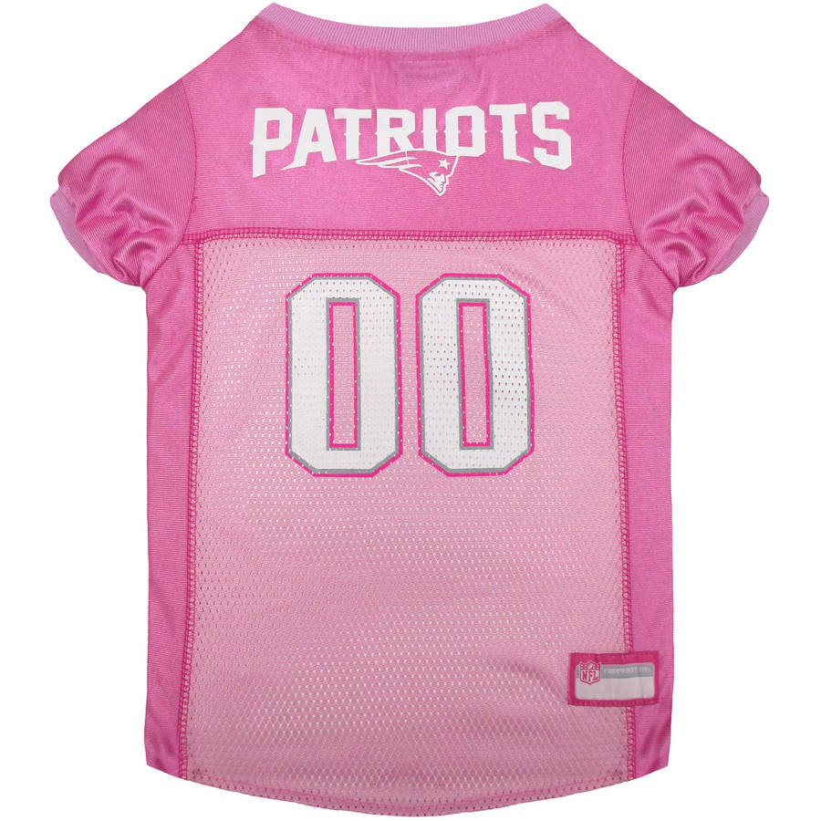 Pets First NFL New England Patriots Pet Pink Jersey, 4 Sizes Available