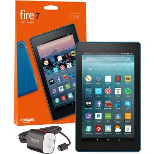 """Fire 7 Tablet with Alexa, 7"""" Display, 8 GB, Marine Blue - with Special Offers"""