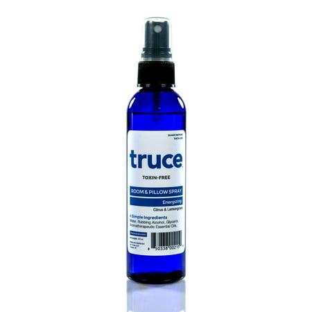 Truce Energizing Room & Pillow Spray, Citrus & Lemongrass, 4 Oz (Citrus Mint Perfume)