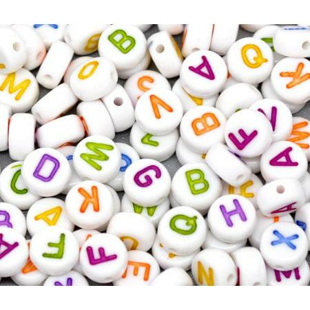 450 Mixed White Acrylic Alphabet /Letter