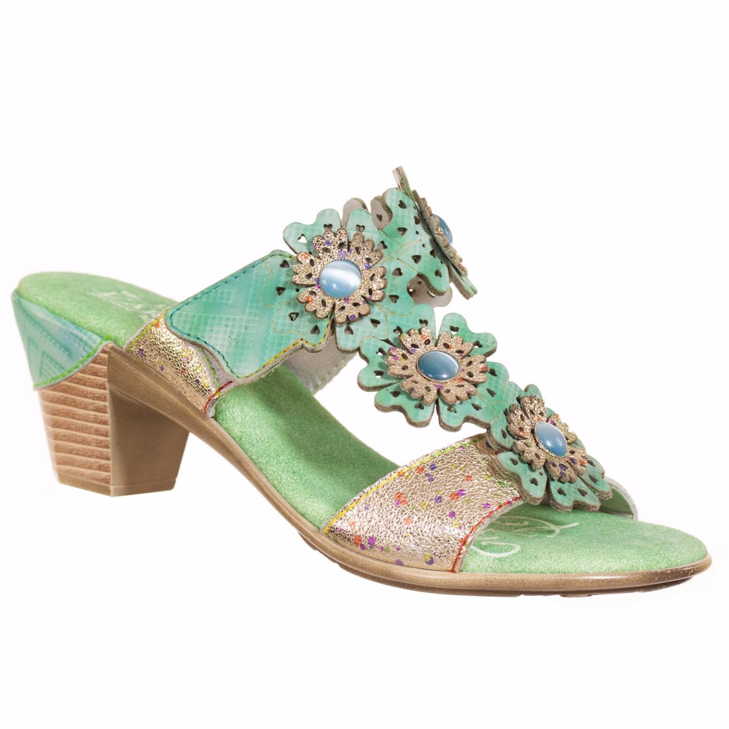Brasi L'Artiste Collection By Spring Step Women's Sandal Green multi EU 37 US 7 by Spring Step